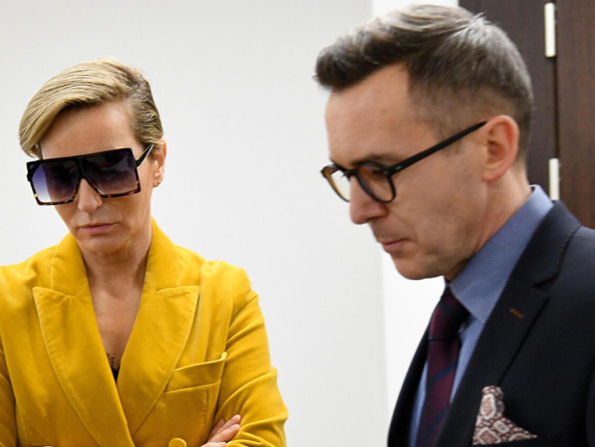 Paulina Smaszcz-Kurzajewska i Maciej Kurzajewski w sądzie