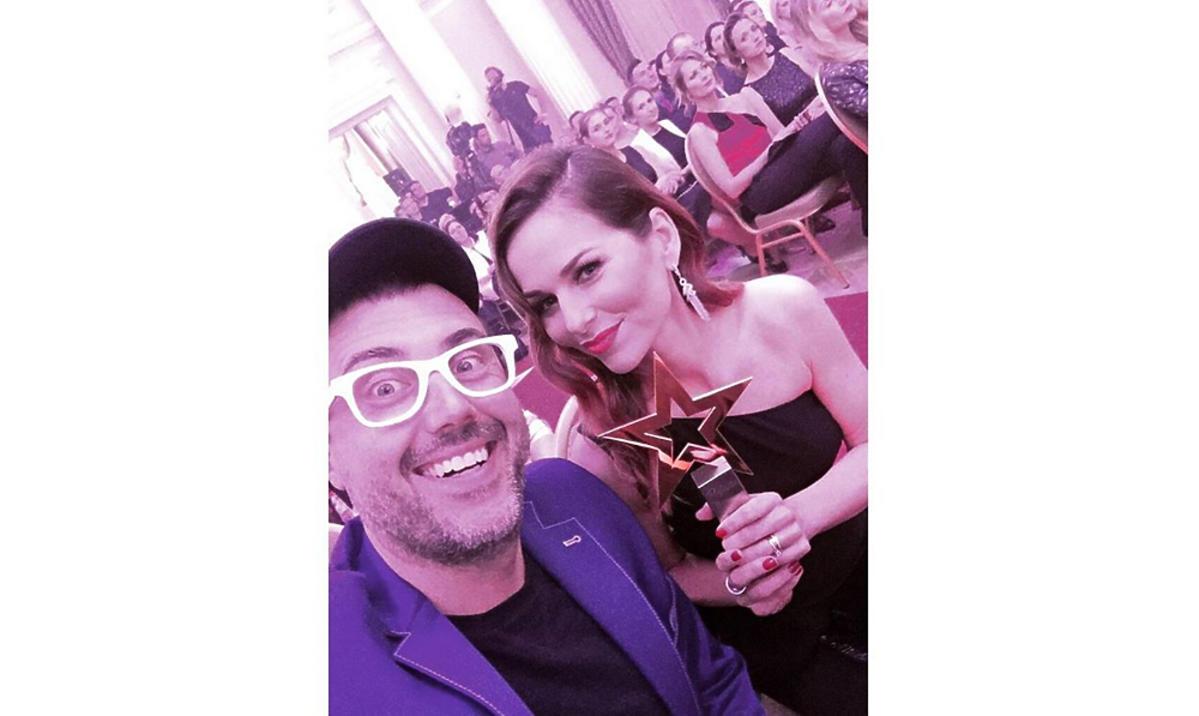 Paulina Sykut i DJ Adamus na imprezie z nagrodą