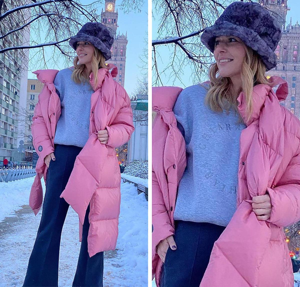 Paulina Sykut - Jeżyna w hitowej różowej kurtce