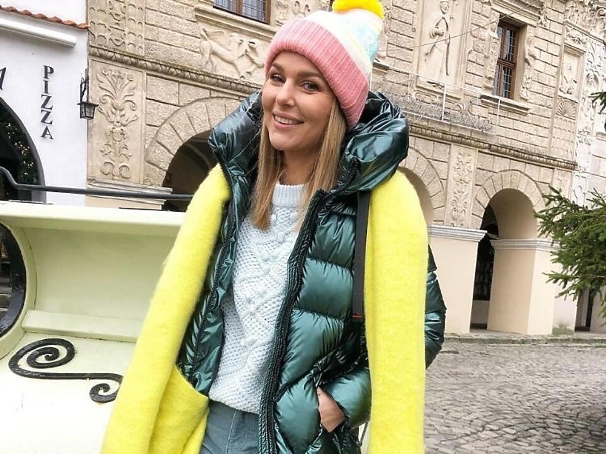 Paulina Sykut-Jeżyna w zielonej puchówce