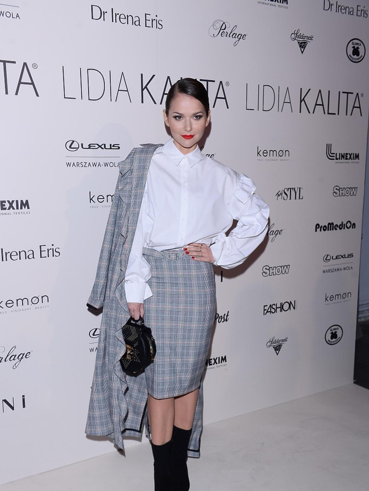 Paulina Sykut na pokazie kolekcji Lidii Kality