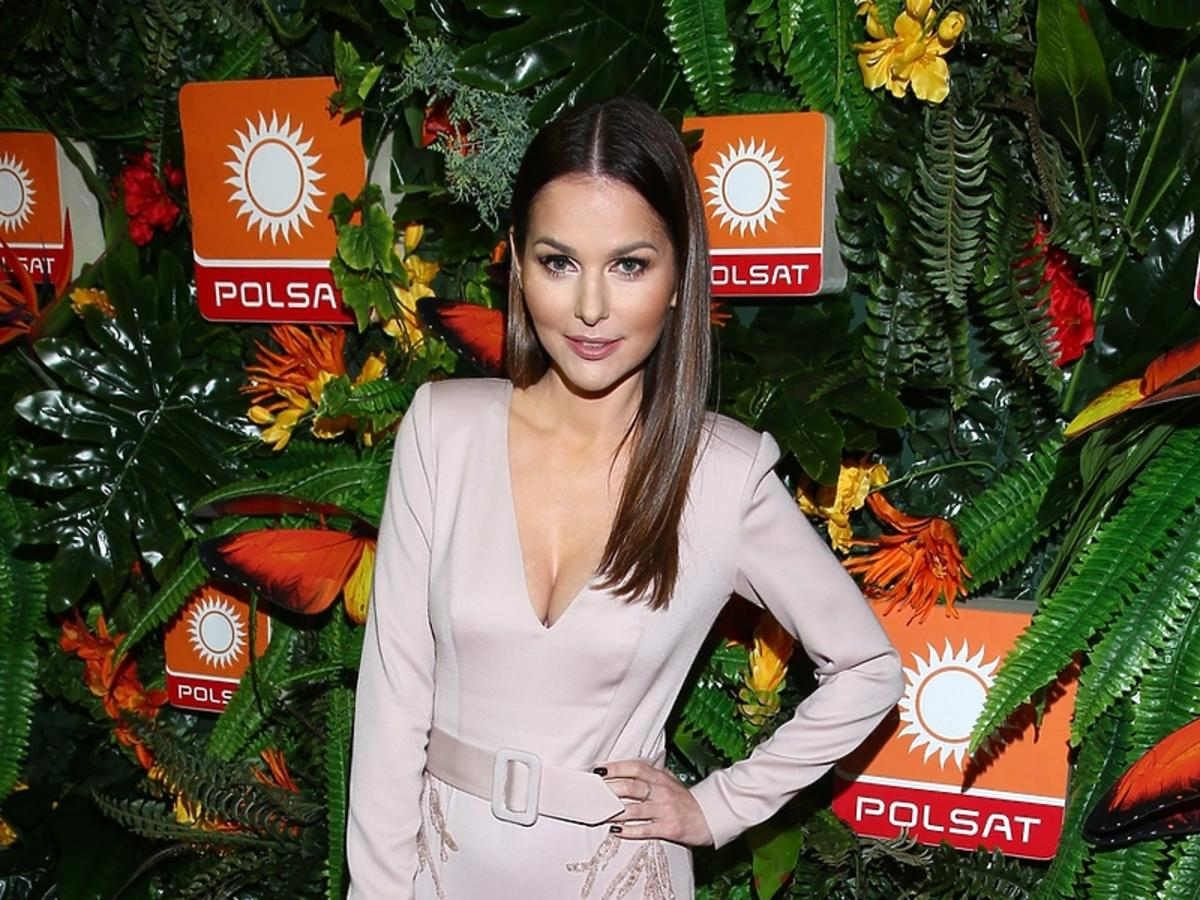 Paulina Sykut na prezentacji wiosennej ramówki Polsatu