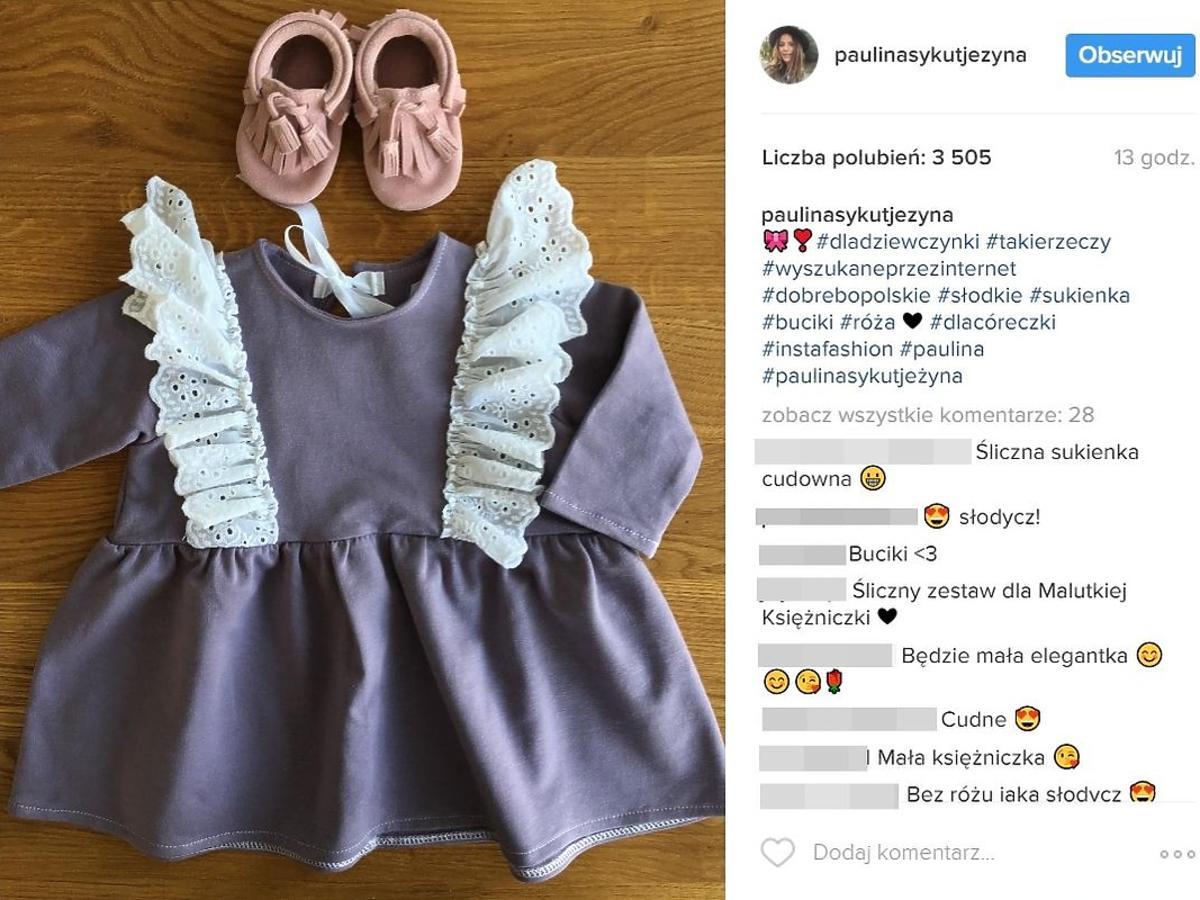 Paulina Sykut pochwaliła się ubrankami dla córki