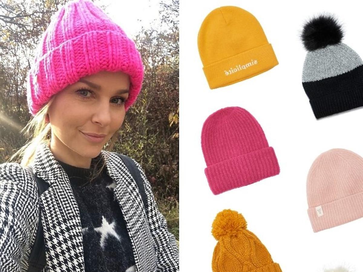 Paulina Sykut pozuje w różowej czapce