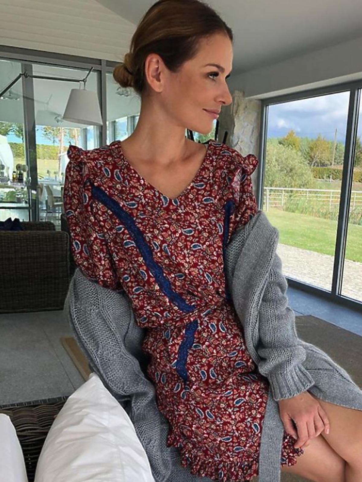 Paulina Sykut w czerwone sukience w kwiaty!
