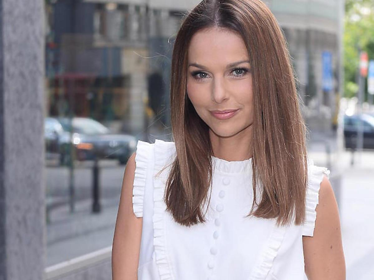 Paulina Sykut w odświeżonej fryzurze na prezentacji nowej kolekcji Badura
