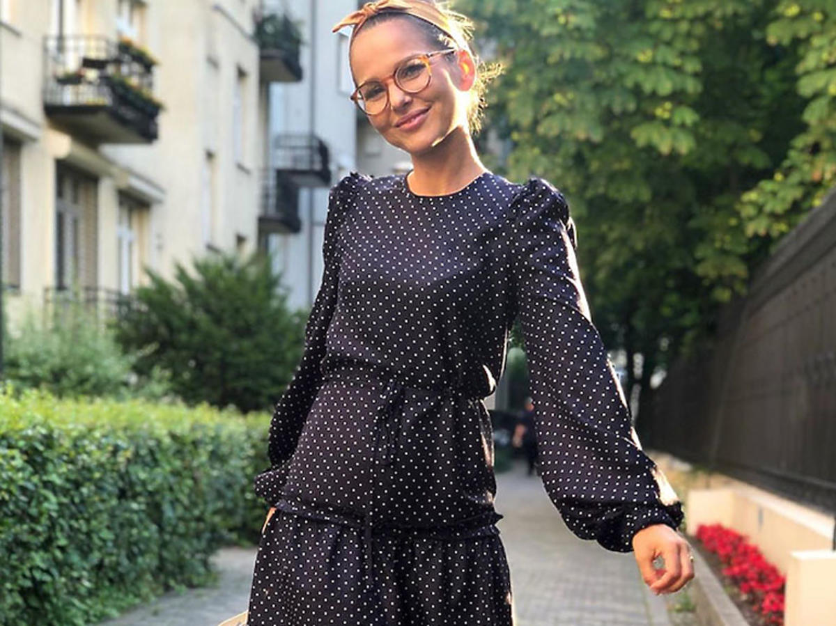 Paulina Sykut w sukience w kropki
