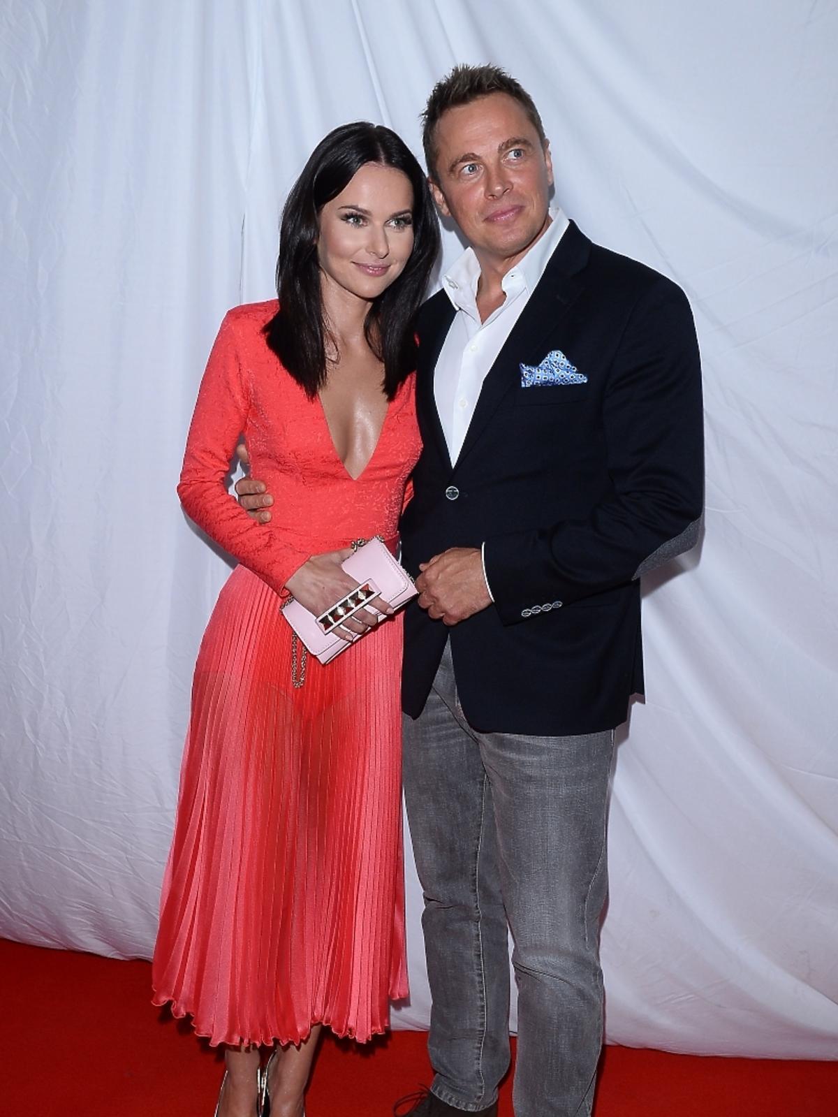 Paulina Sykut z mężem na prezentacji jesiennej ramówki Polsatu