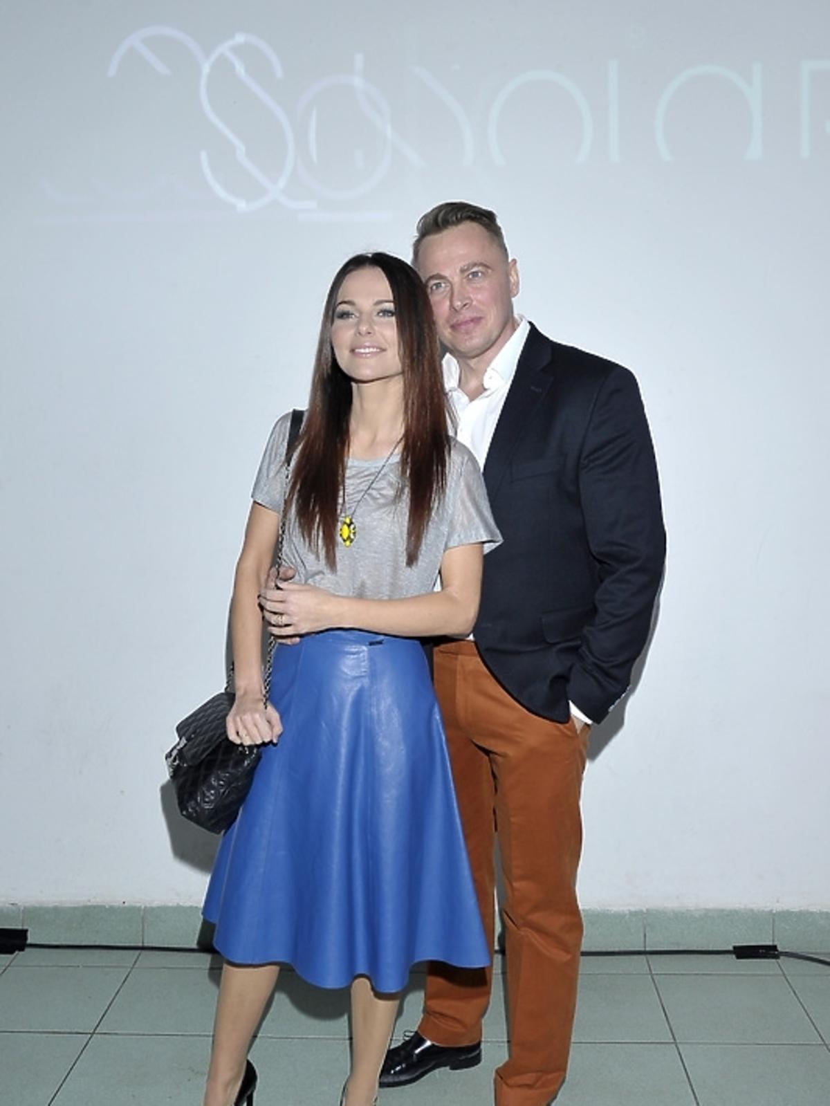 Paulina Sykut z mężem Piotrem Jeżyną na premierze albumu