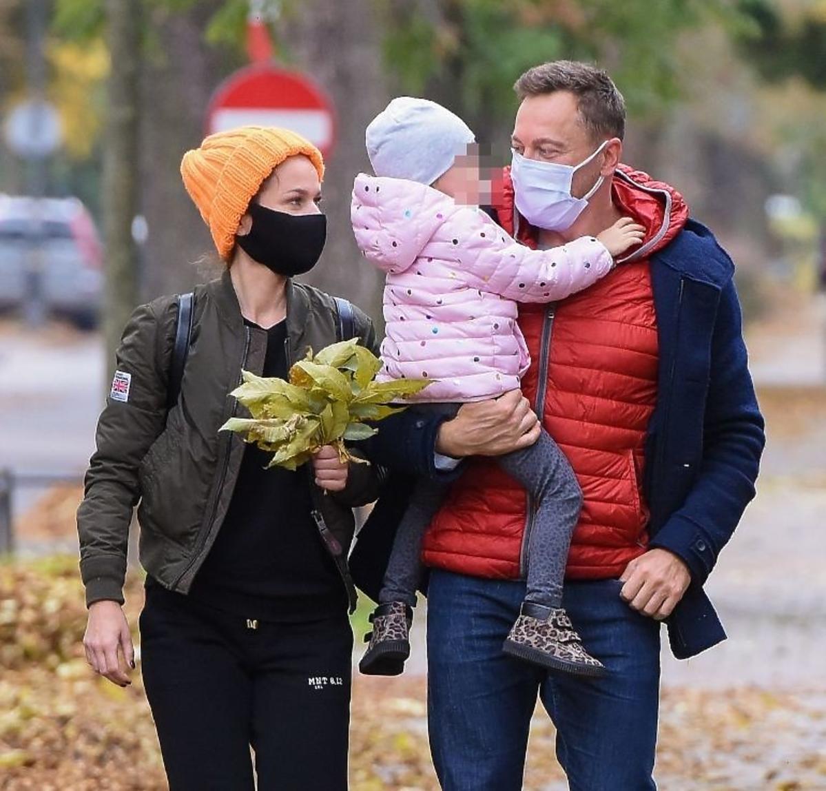 Paulina Sykut z rodziną