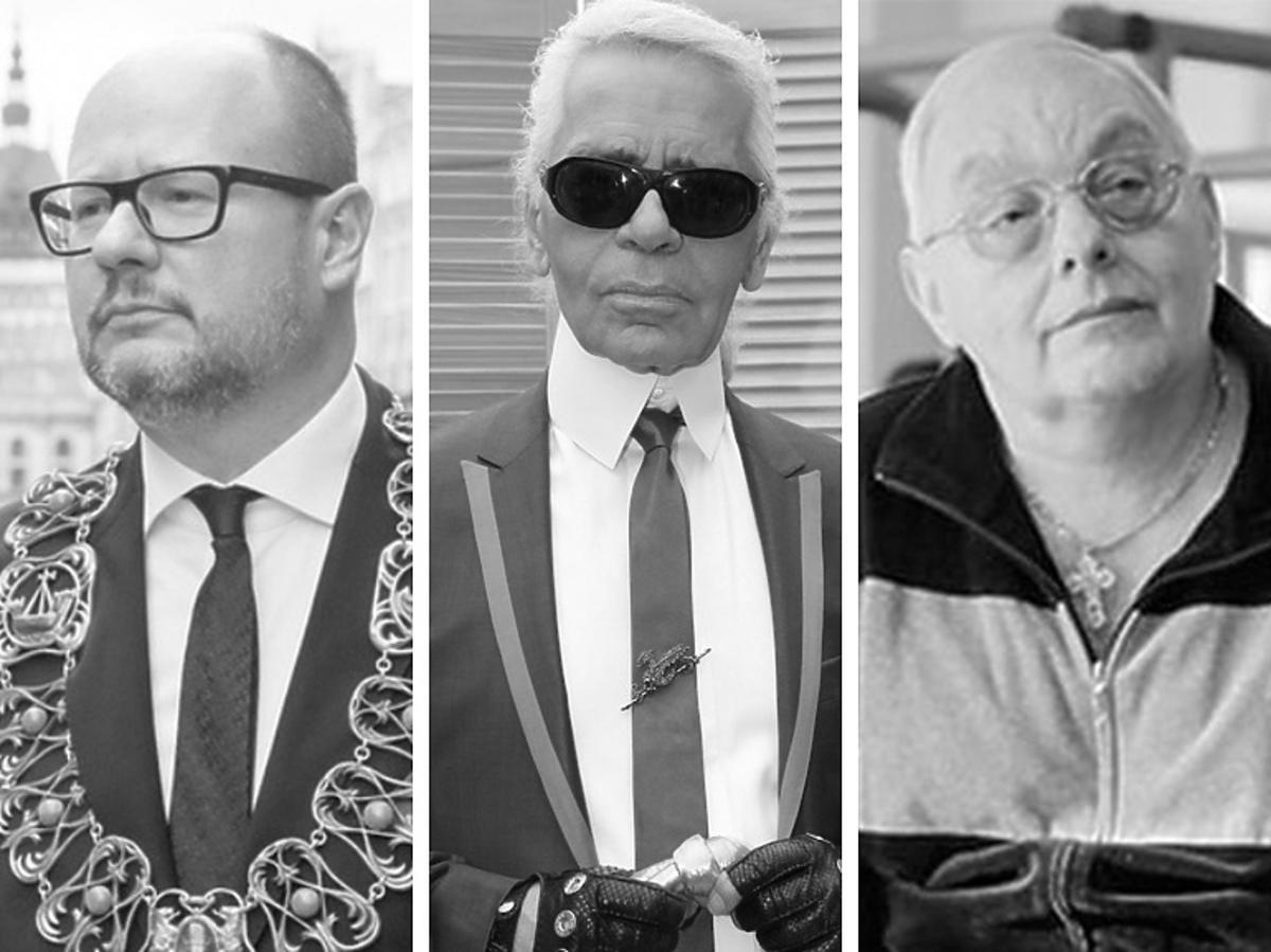 Paweł Adamowicz, Karl Lagerfeld, Cezary Mocek