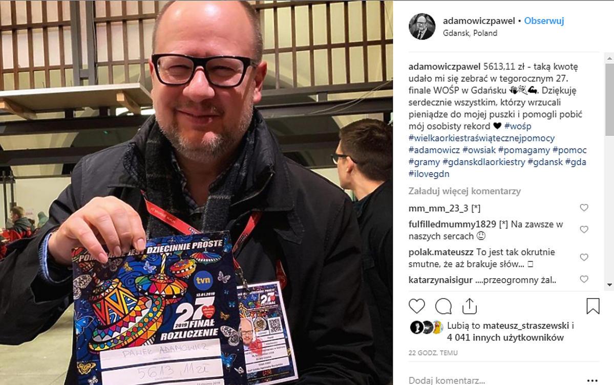 Paweł Adamowicz nie żyje. Kim był? Rodzina, profil na Instagramie