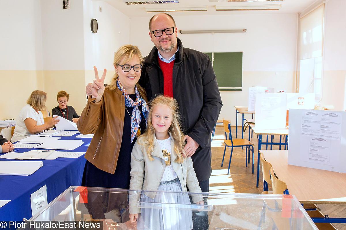 Paweł Adamowicz z rodziną