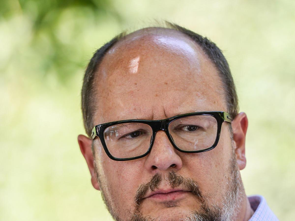 Paweł Adamowicz zbliżenie na twarz