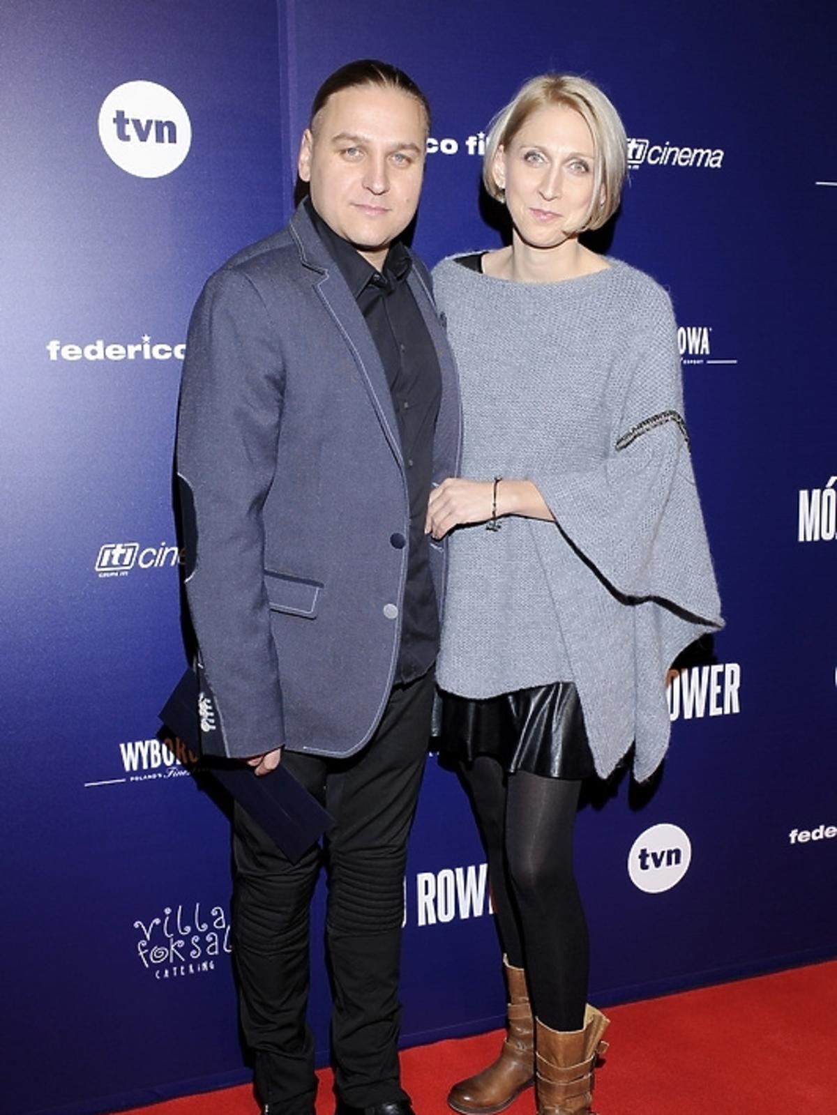 Paweł Golec i Katarzyna Golec na premierze filmu