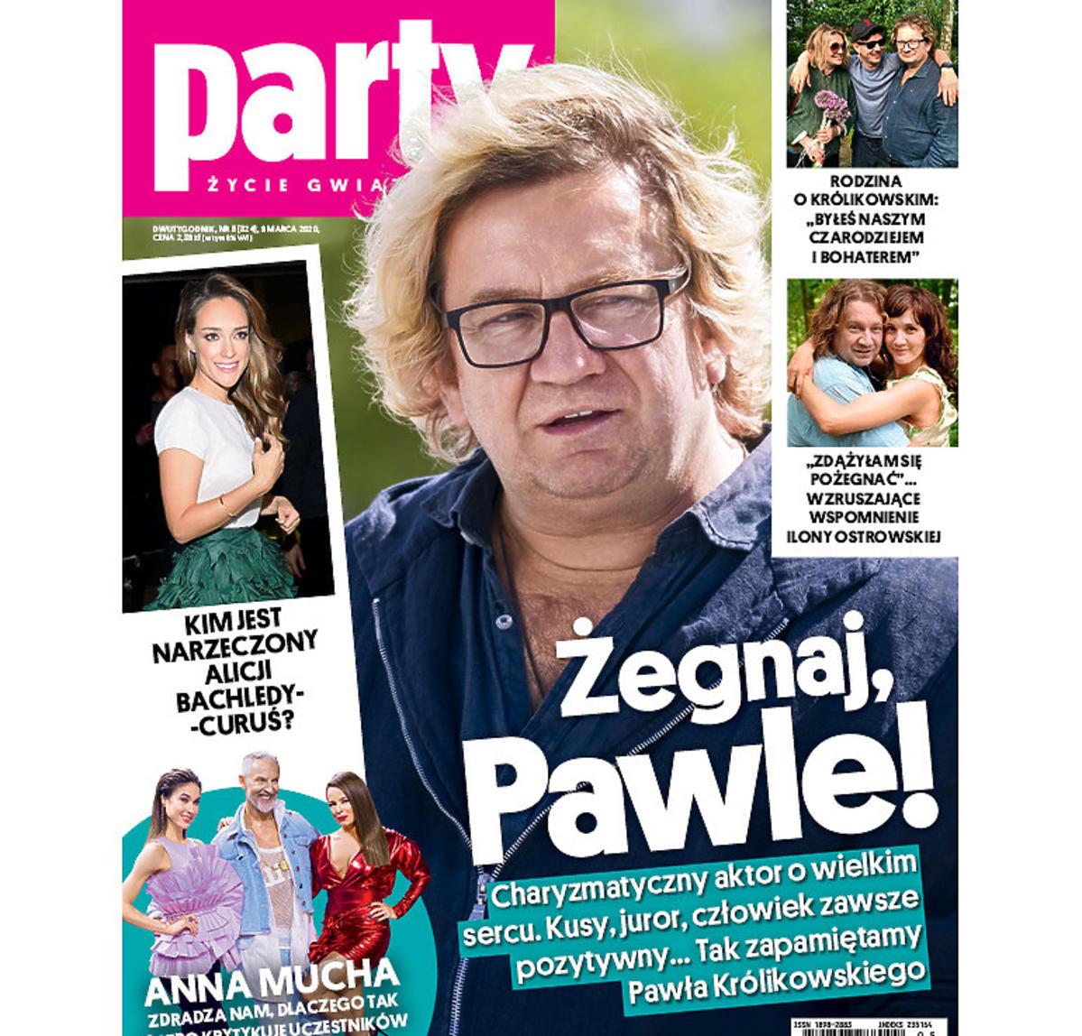 Paweł Królikowski na okładce Party - do środka
