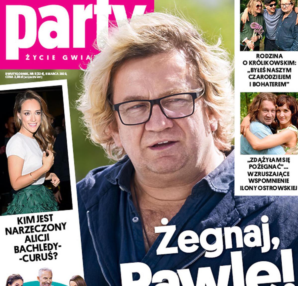 Paweł Królikowski na okładce Party - na zdjęcie główne