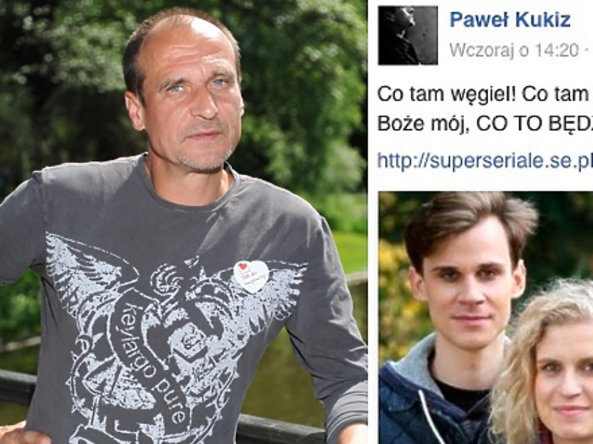 Paweł Kukiz w zielonej koszulce