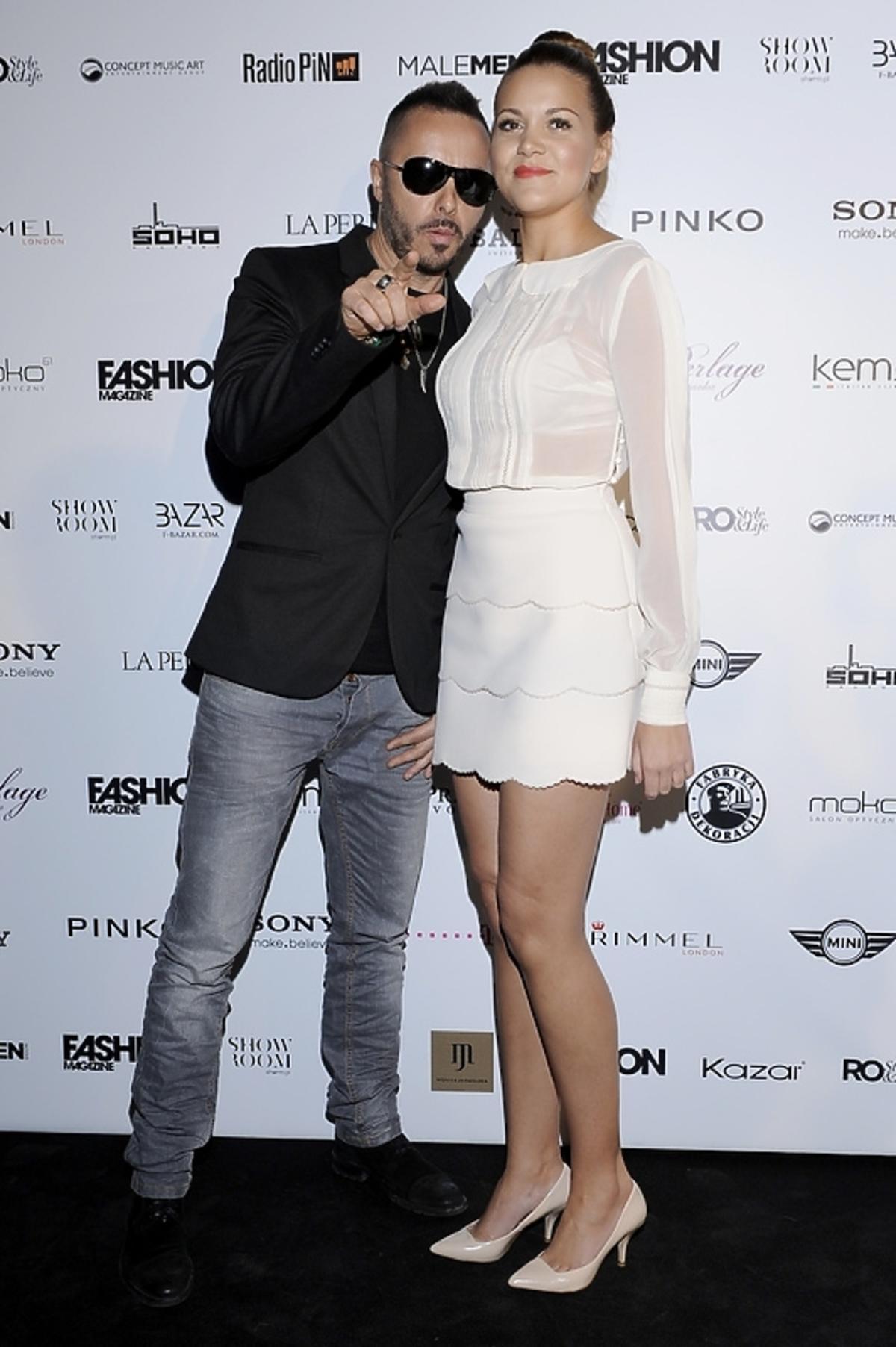 Paweł Rurak-Sokal i Dominika Gawęda na rozdaniu nagród Fashion Magazine