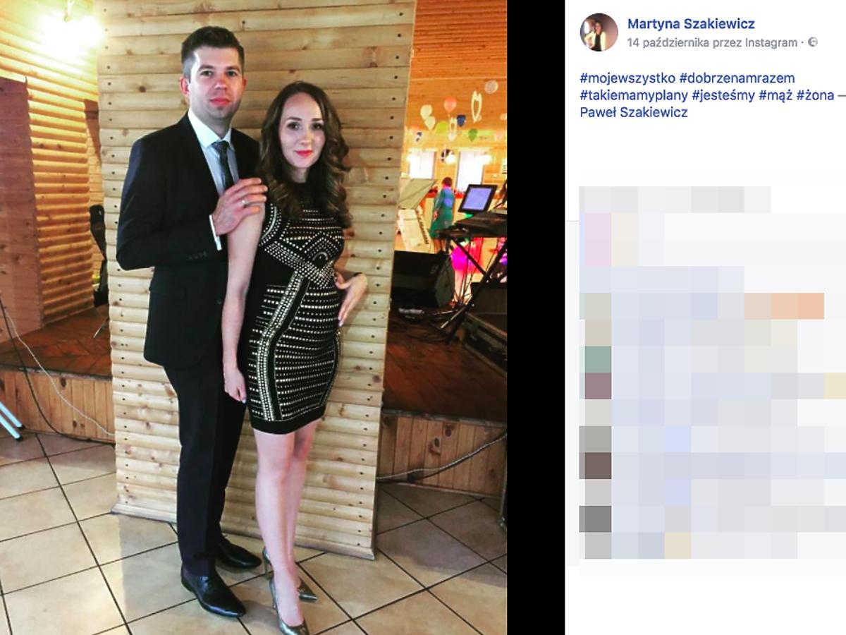 Paweł Szakiewicz i Martyna Szakiewicz widać ciążowy brzuszek