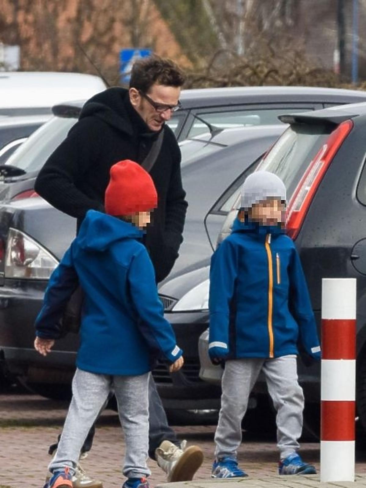 Paweł Wilczak i Joanna Brodzik z dziećmi