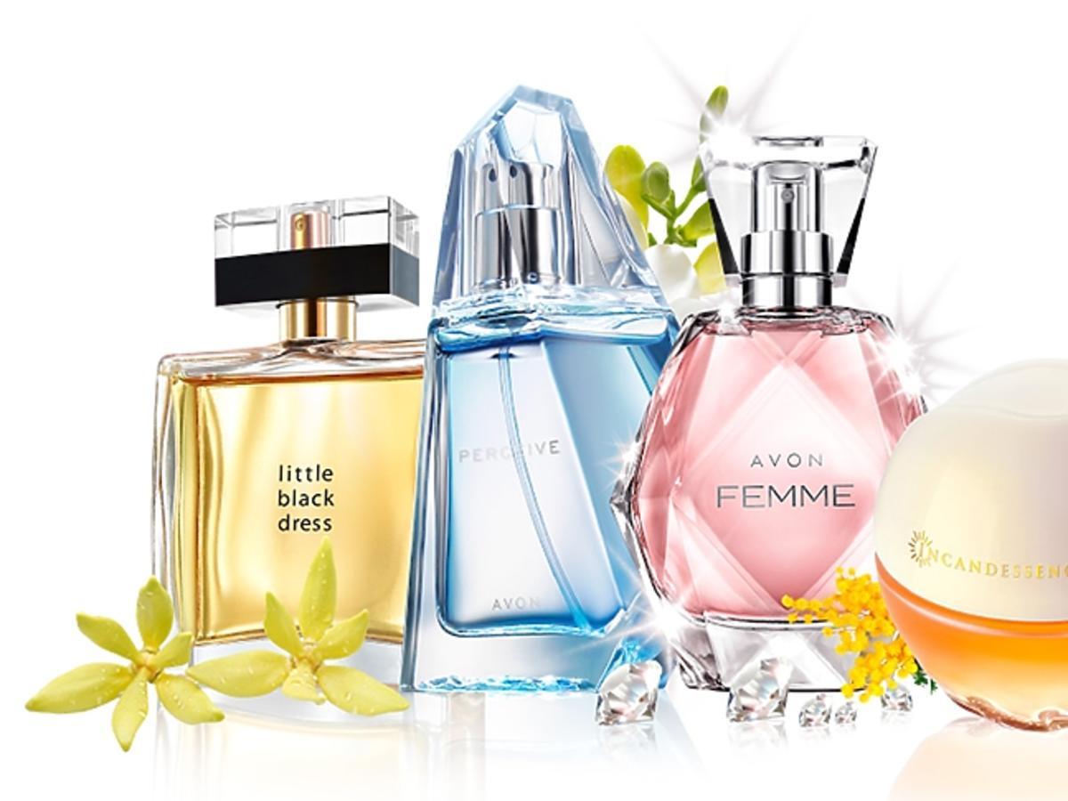 Perfumy AVON 4 flakoniki