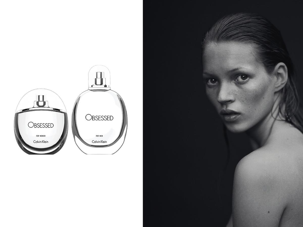 Perfumy Obsessed Calvin Klein, kampania perfum Obsession Calvin Klein, 1993r.