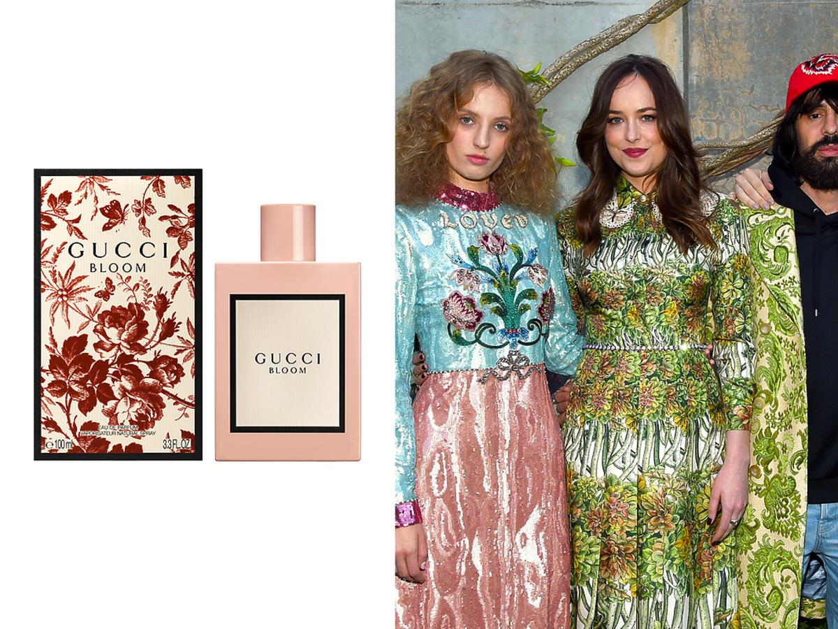 Petra Collins, Dakota Johnson, Alessandro Michele i remiera perfum Gucci Bloom i Hari Nef na premierze perfum Gucci Bloom