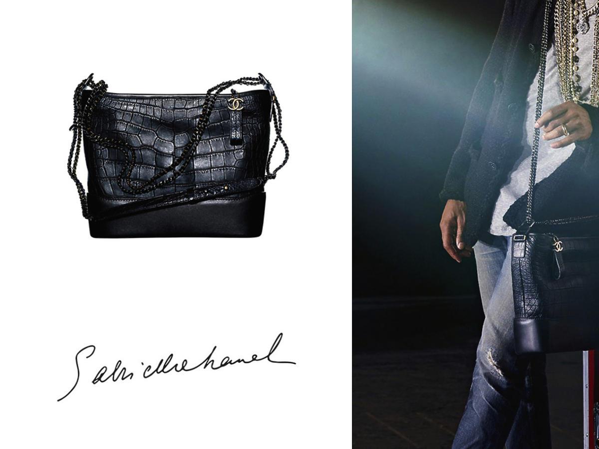 Pharrell Williams - pierwszy mężczyzna twarzą torebki Chanel Gabrielle