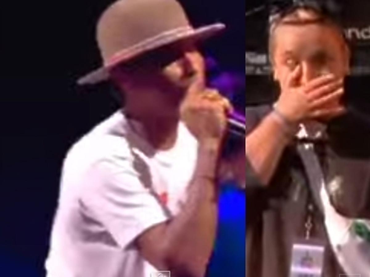 Pharrell Williams zaprosił Polkę na scenę