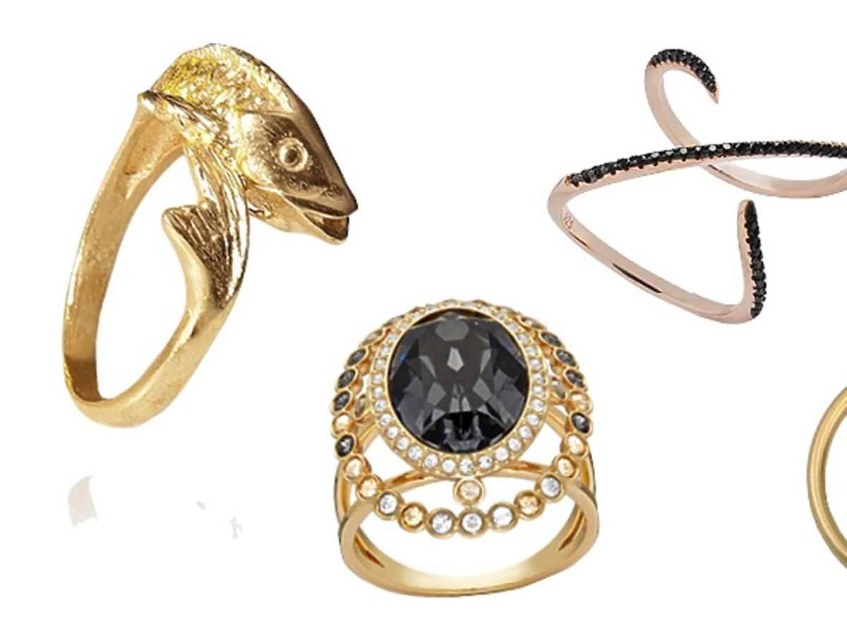 pierścionki złote i srebrne bogato zdobione