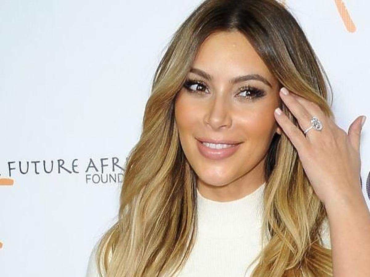 Pierwszy projekt sukni ślubnej Kim Kardashian