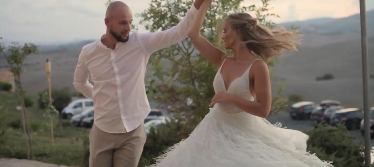 Pierwszy taniec na weselu Agnieszki Kaczorowskiej i Macieja Peli
