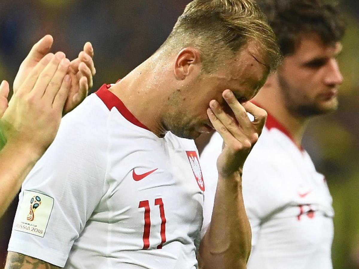Piłkarze płaczą po meczu Polska Kolumbia!