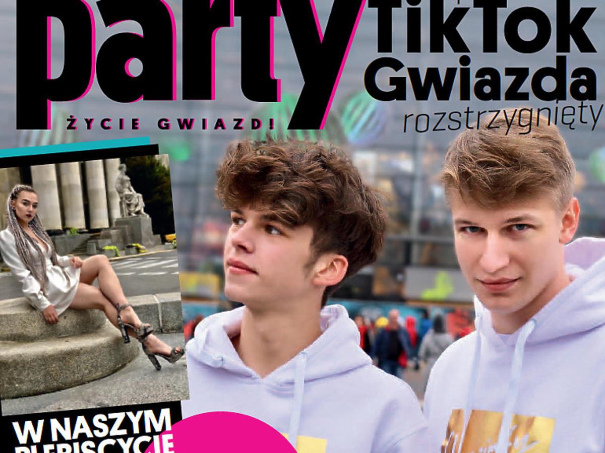 Piotr Charaziński i Kacper Porębski na okładce Party