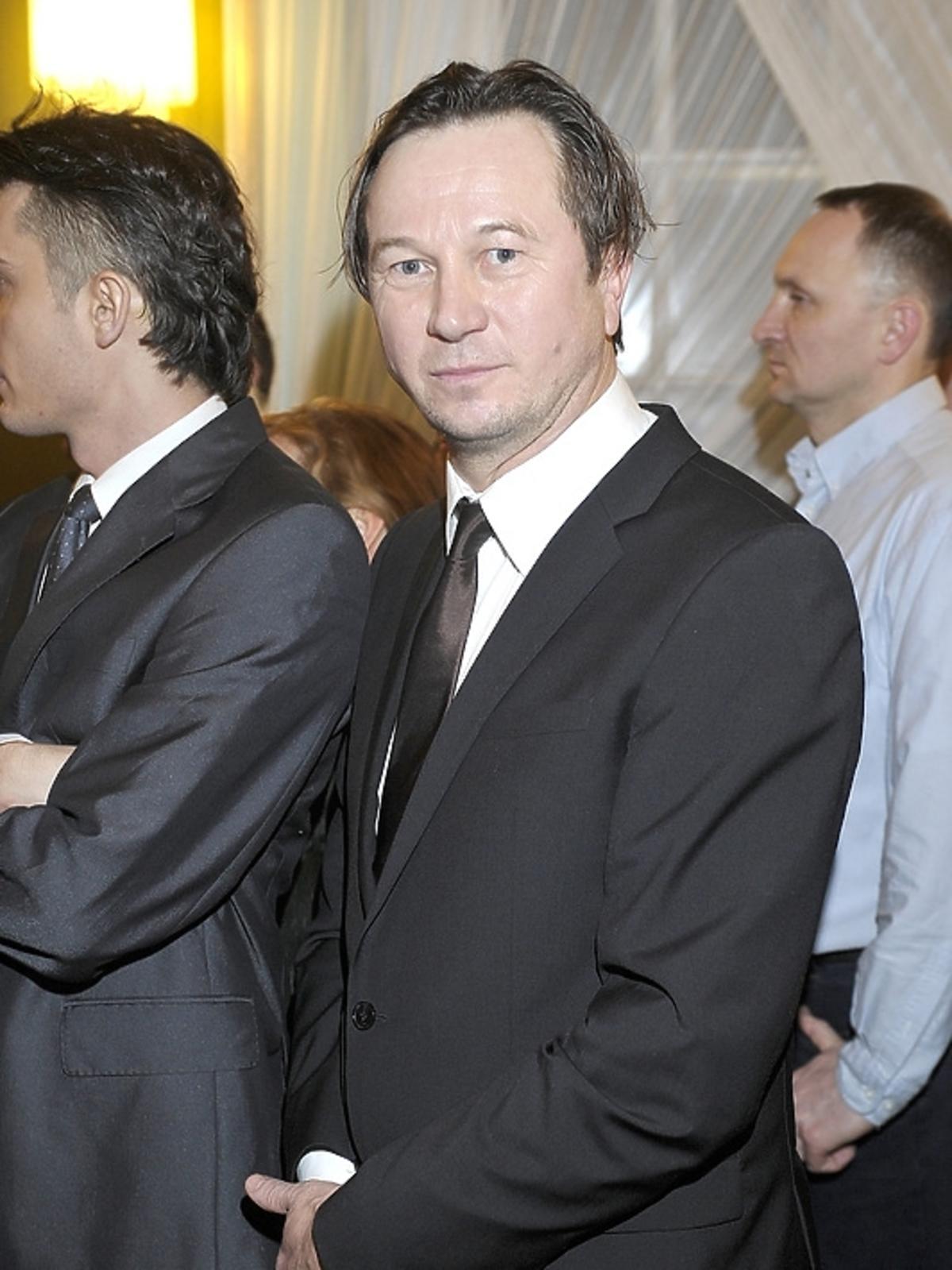 Piotr Cyrwus na premierze Irydiona na 100 Lat Teatru Polskiego