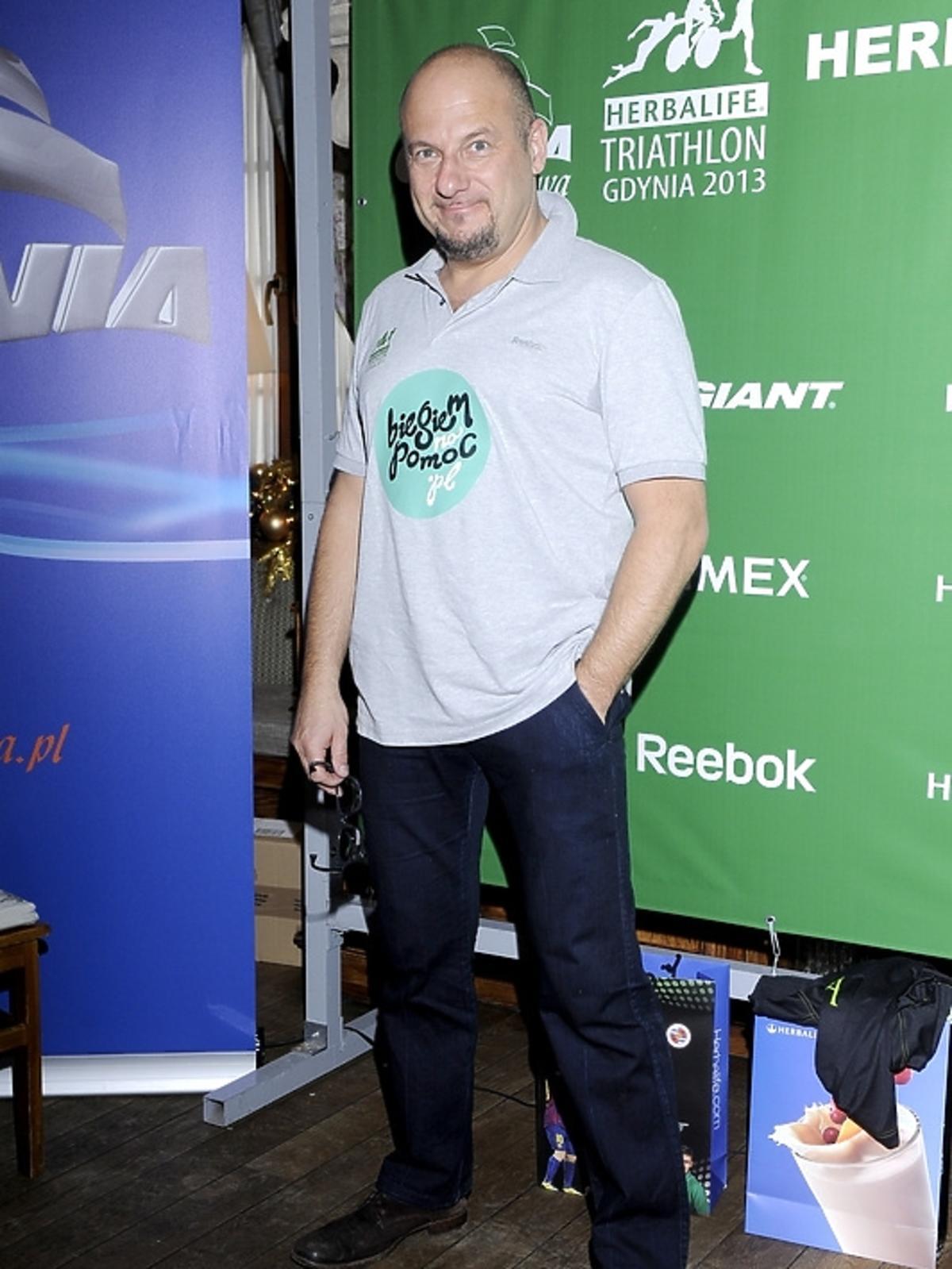 Piotr Gąsowski na konferencji Herbalife Triathlon 2013
