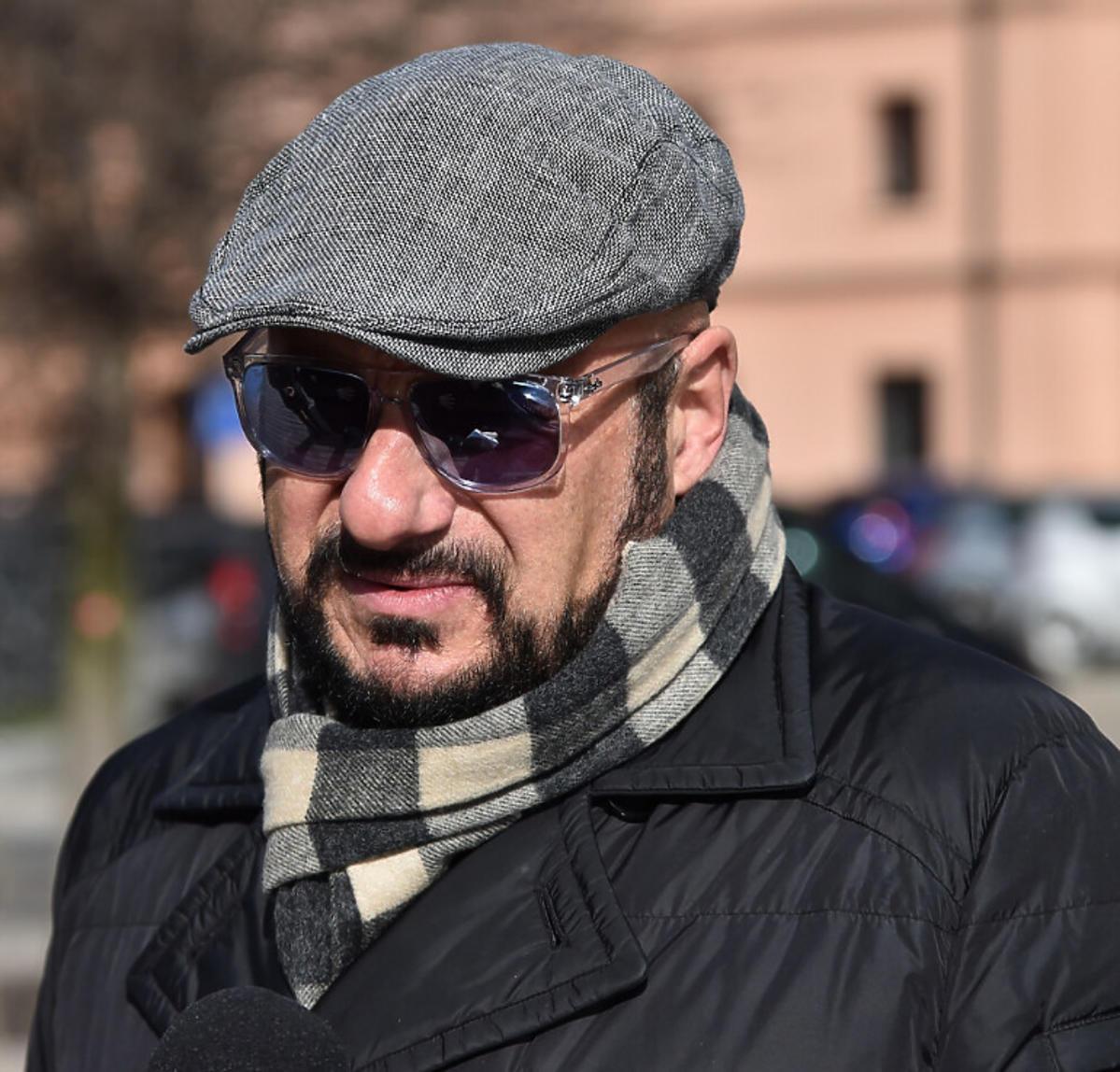 Piotr Gąsowski na pogrzebie Pawła Królikowskiego