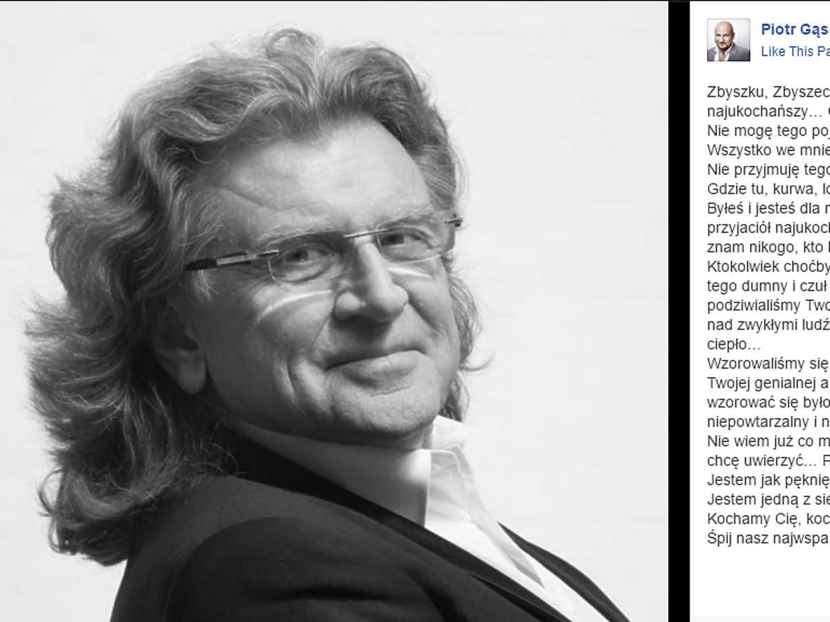 Piotr Gąsowski żegna Zbigniewa Wodeckiego