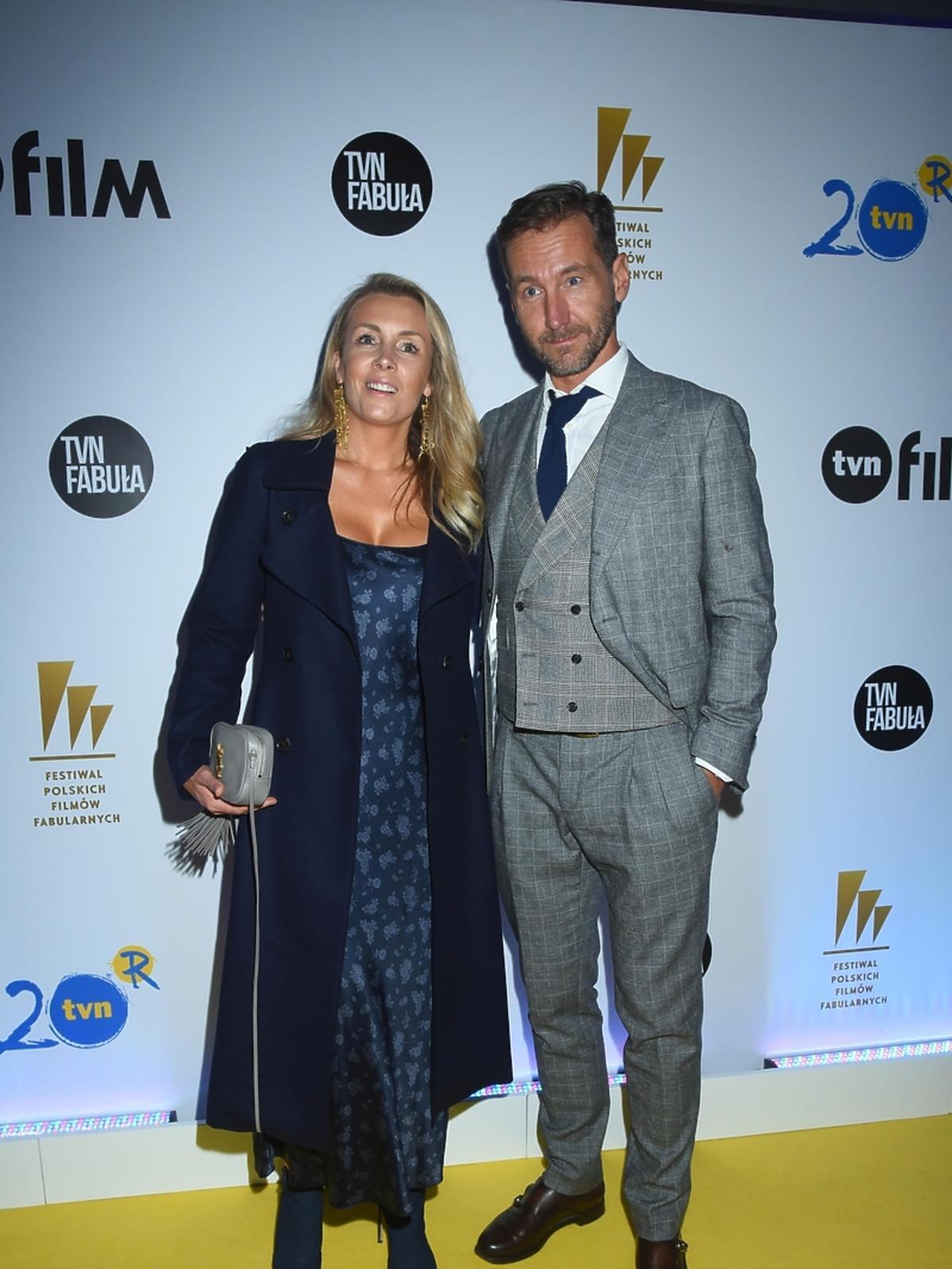 Piotr Kraśko i Karolina Ferenstein Kraśko na imprezie TVN na Festiwalu Filmowym w Gdyni