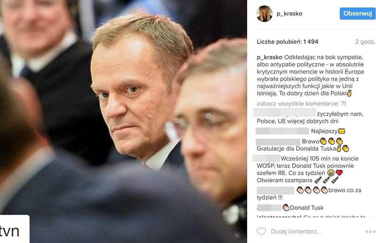 Piotr Kraśko komentuje wygraną Donalda Tuska
