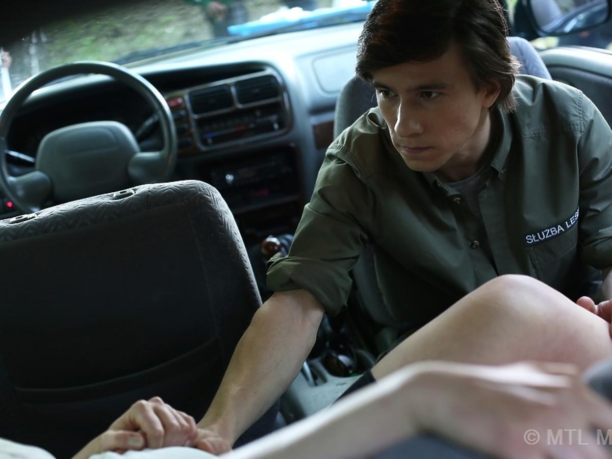 Piotr Nerlewski w samochodzie