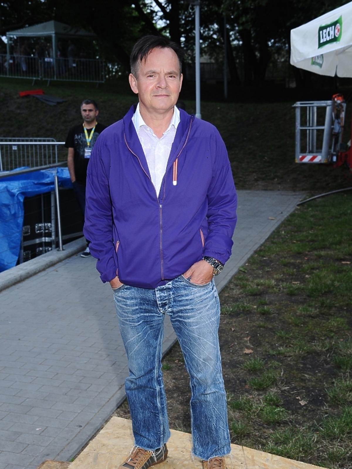 Piotr Pręgowski na próbach do Festiwalu w Opolu