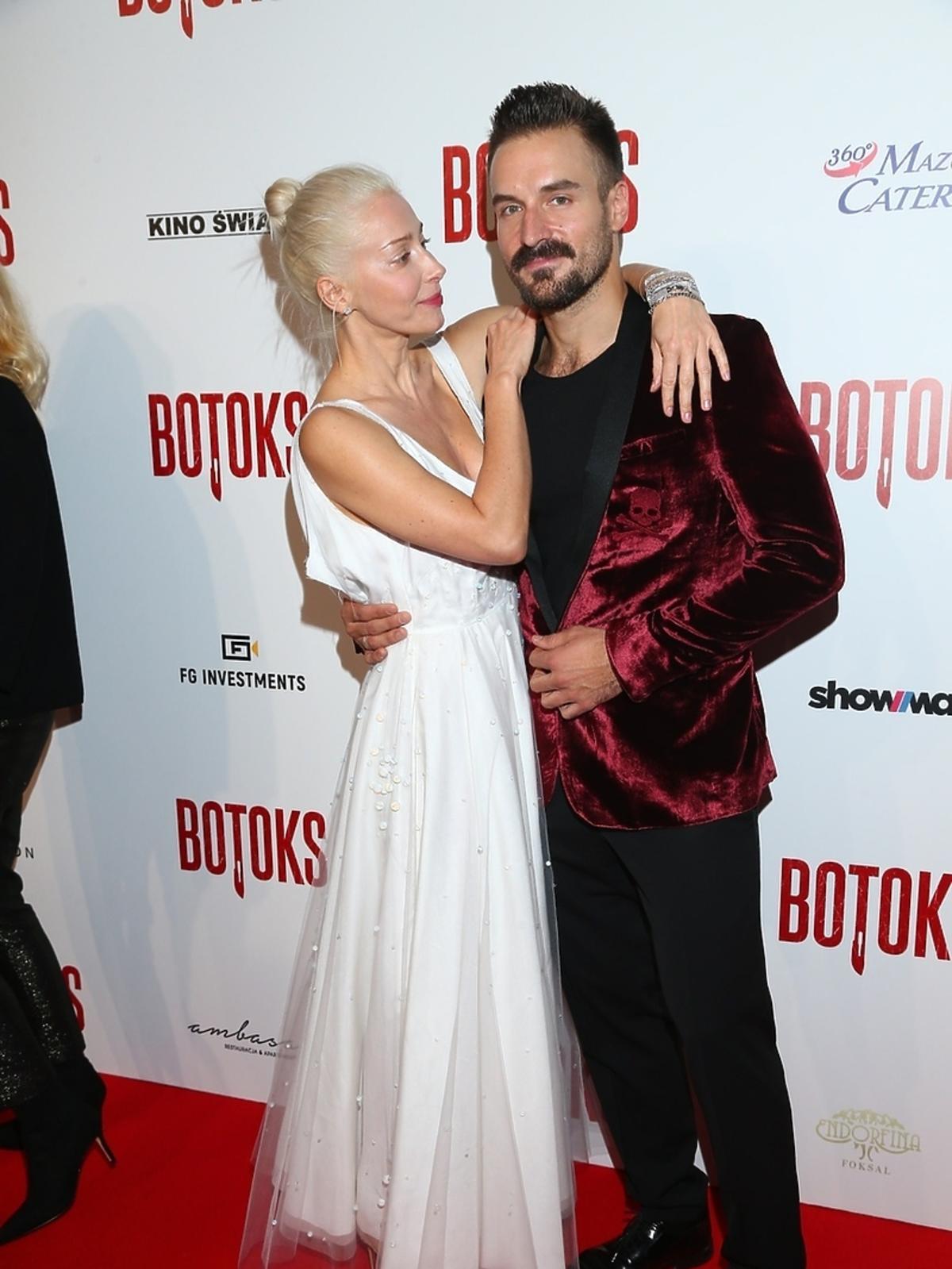 Piotr Stramowski i Kasia Warnke na premierze filmu Botoks