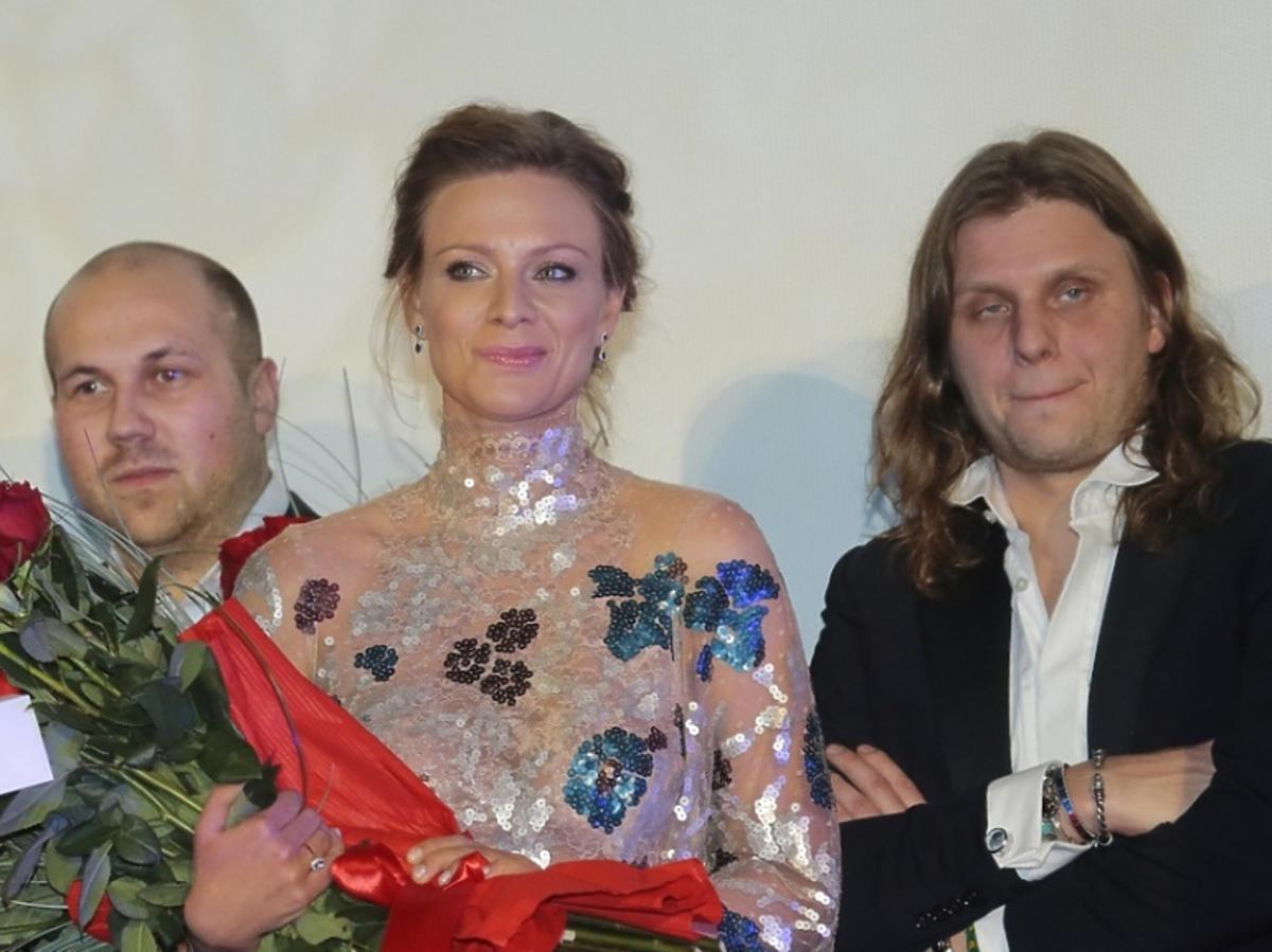 Piotr Woźniak-Starak na premierze filmu