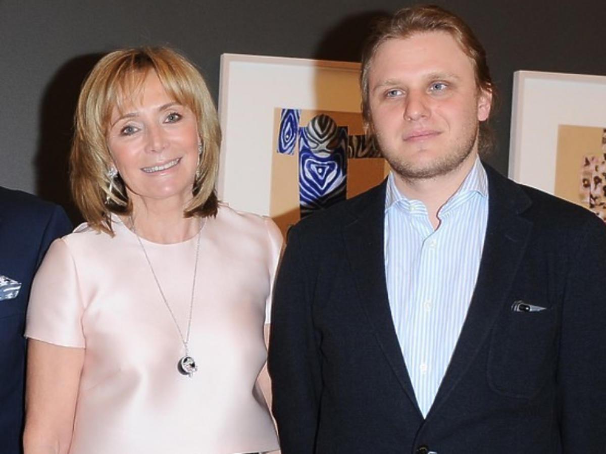 Piotr Woźniak-Starak ze swoją mamą, Anną