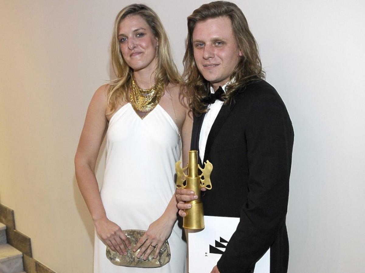 Piotr Woźniak-Starak ze swoją siostrą, Julią