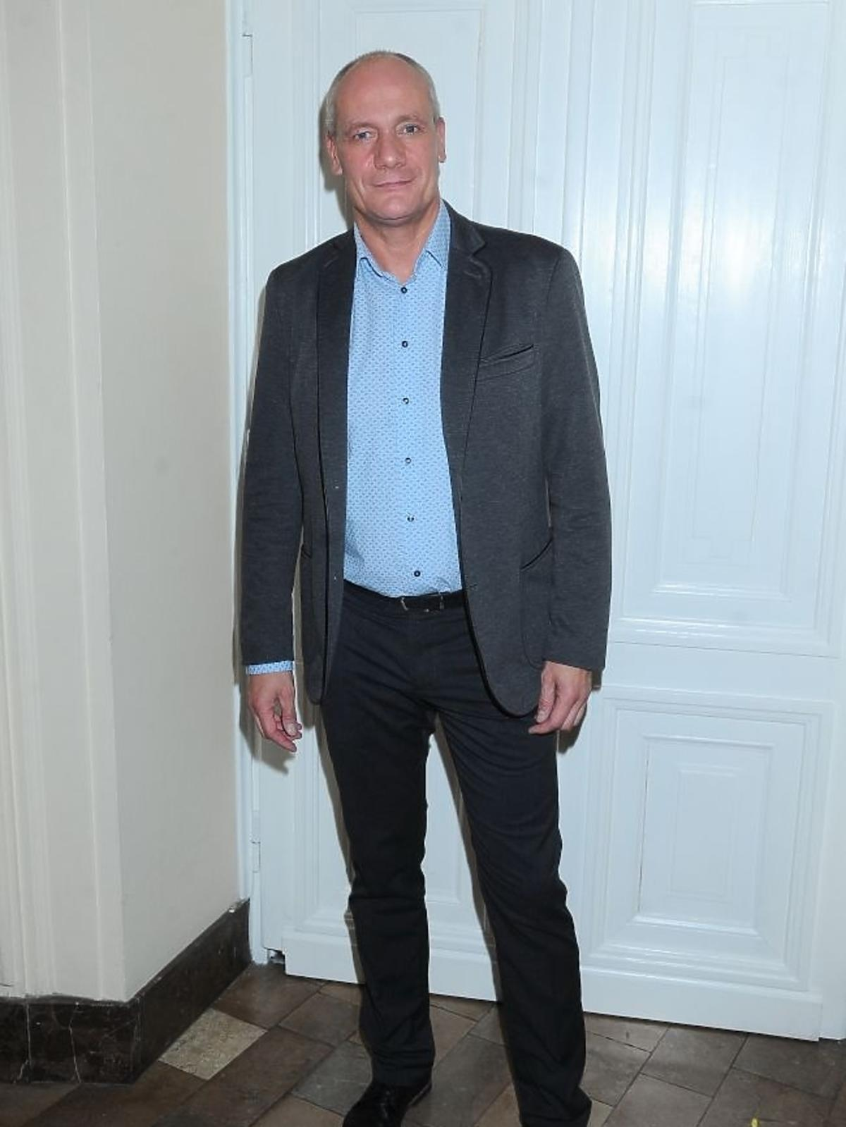 Piotr Zelt na premierze spektaklu Zwariowana terapia
