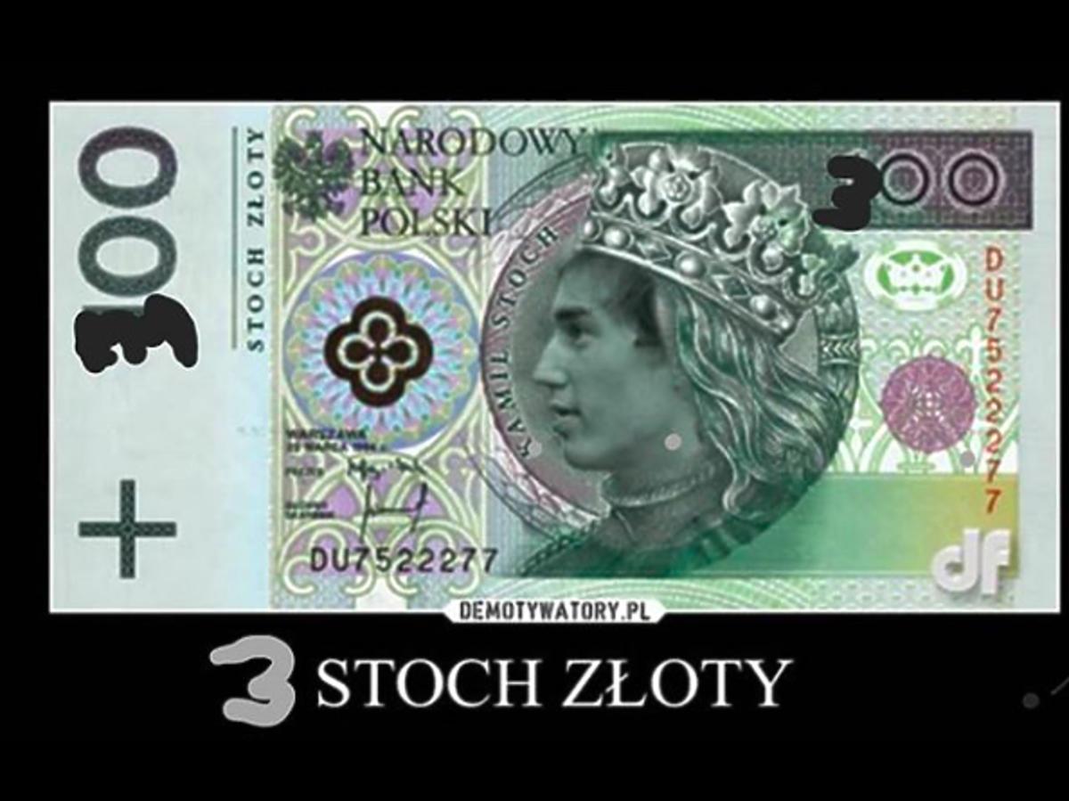 Piotr Żyła proponuje banknot ze Sochem