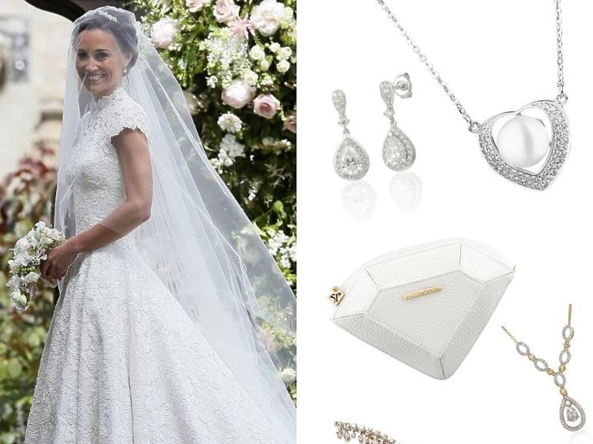 Pippa Middleton-w sukni ślubnej i stylowe dodatki do ślubu